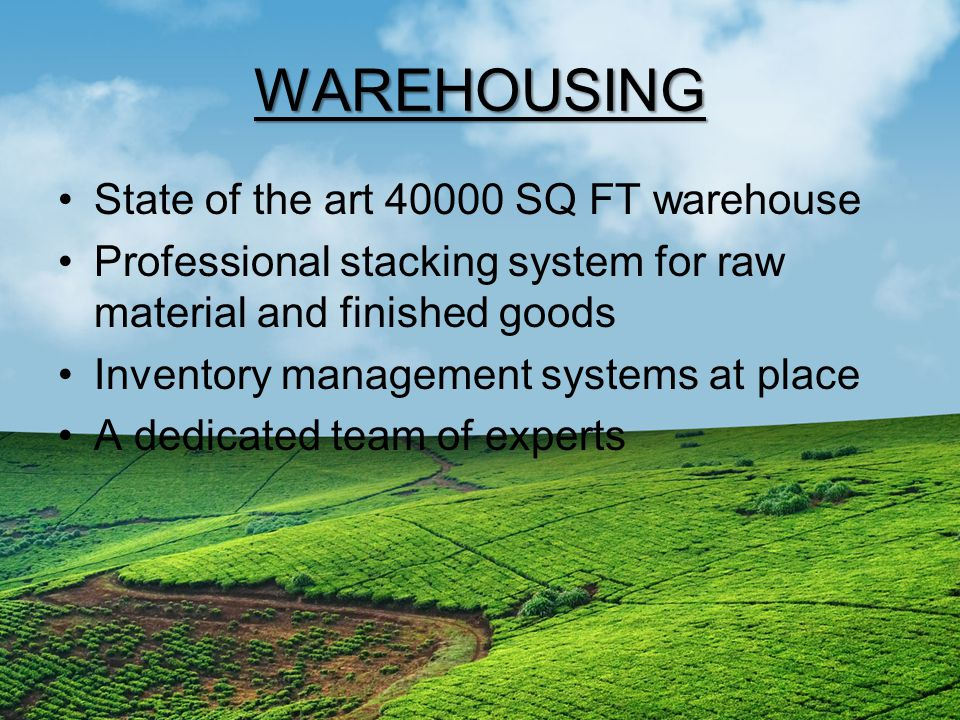 WAREHOUSING State of the art 40000 SQ FT warehouse