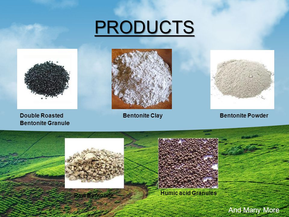 PRODUCTS And Many More… Double Roasted Bentonite Granule