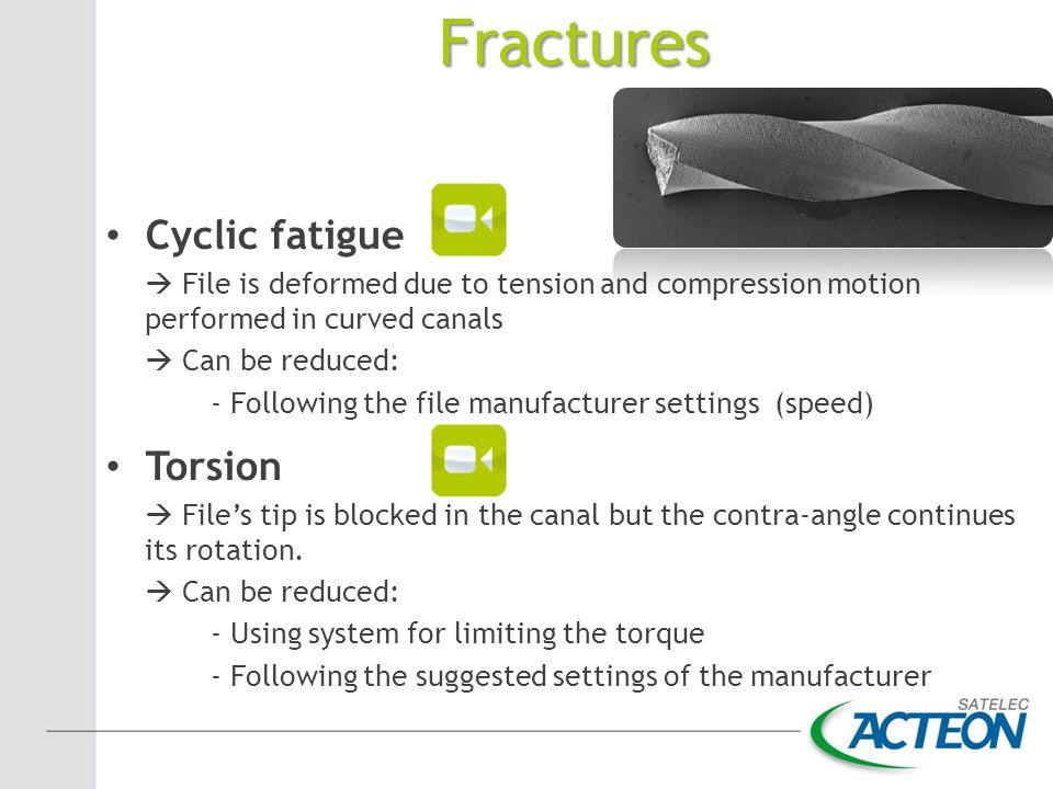 Fractures Cyclic fatigue Torsion