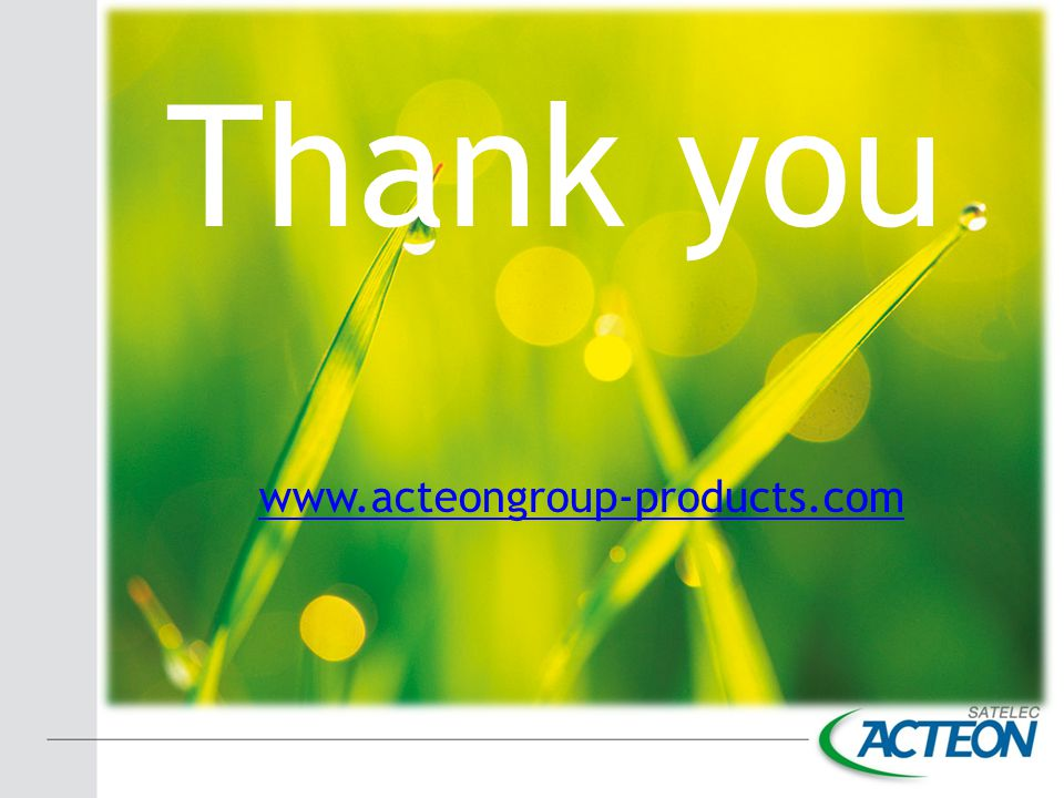 Thank you www.acteongroup-products.com