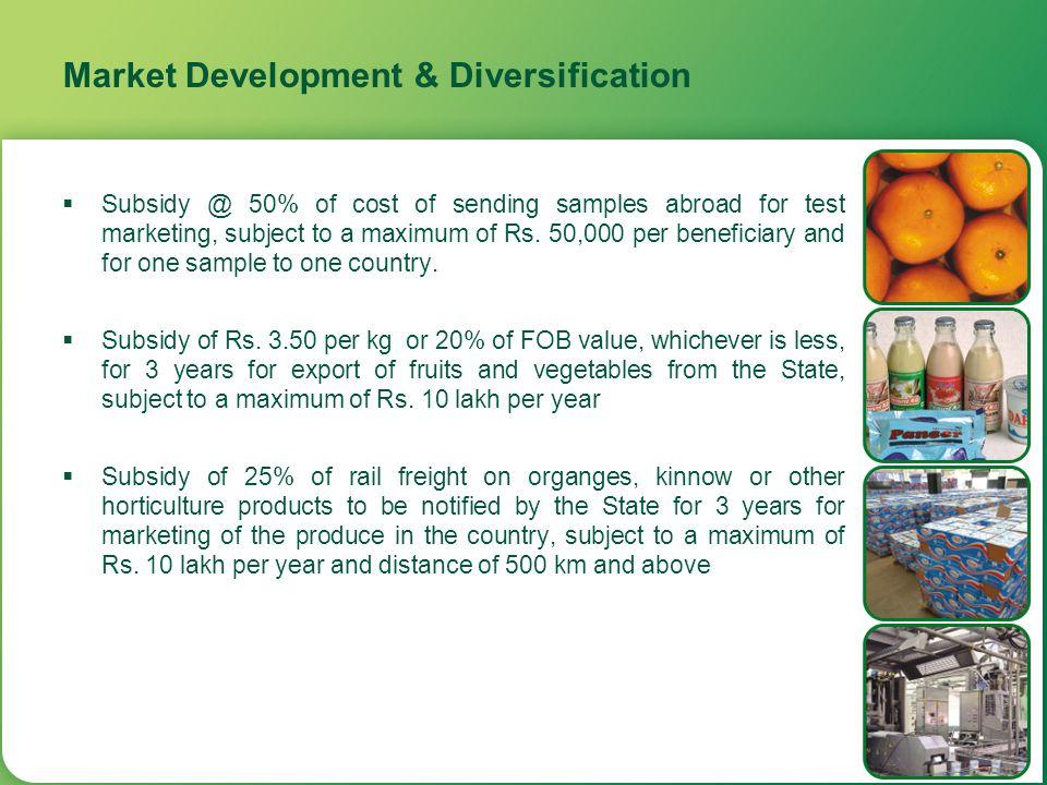 Market Development & Diversification
