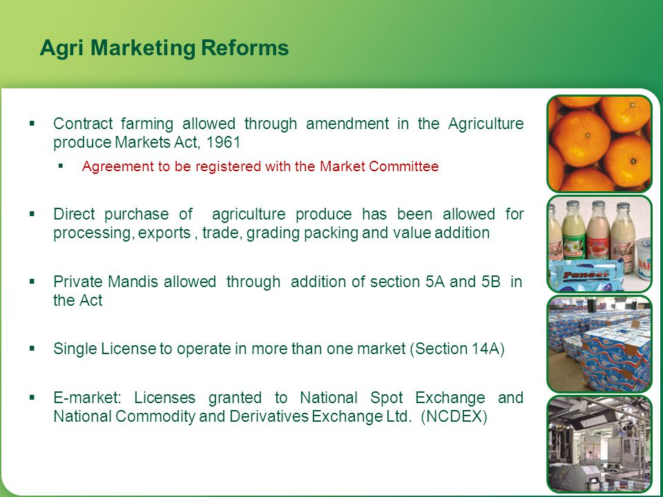 Agri Marketing Reforms