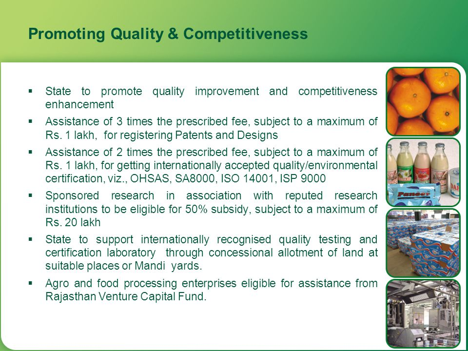 Promoting Quality & Competitiveness