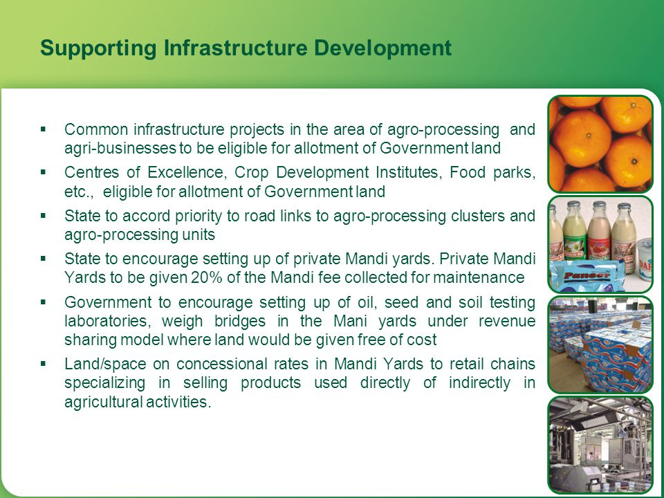 Supporting Infrastructure Development