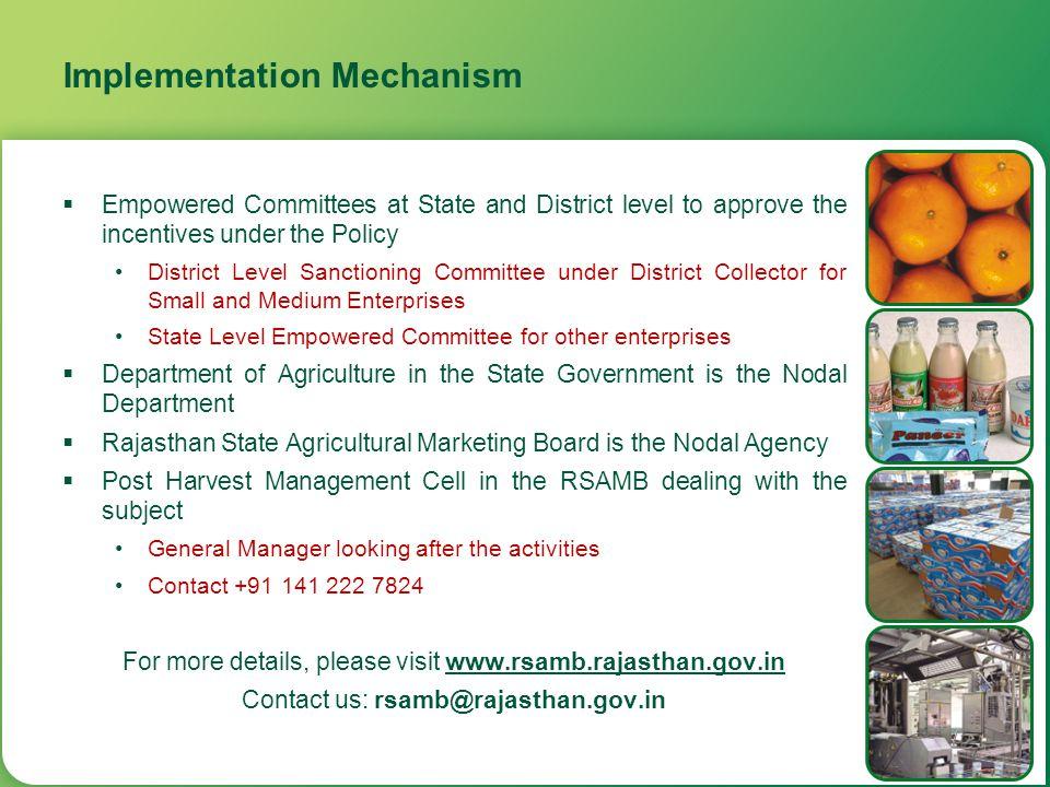 Implementation Mechanism