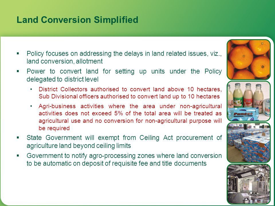 Land Conversion Simplified