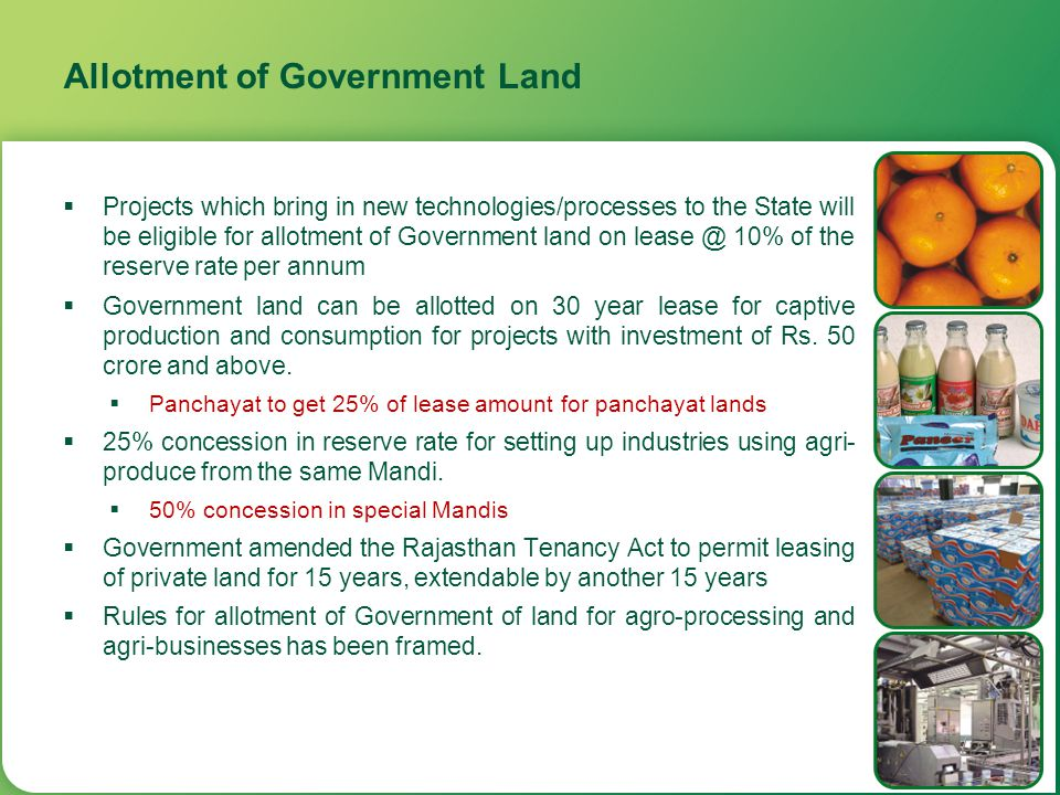 Allotment of Government Land