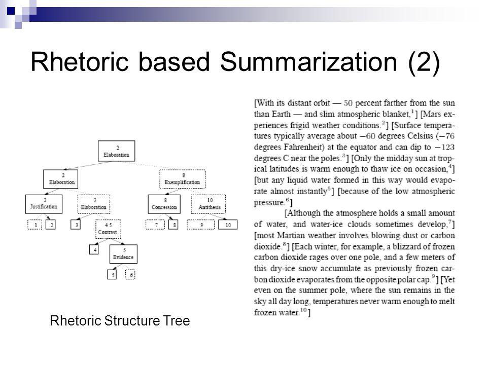 Rhetoric based Summarization (2)