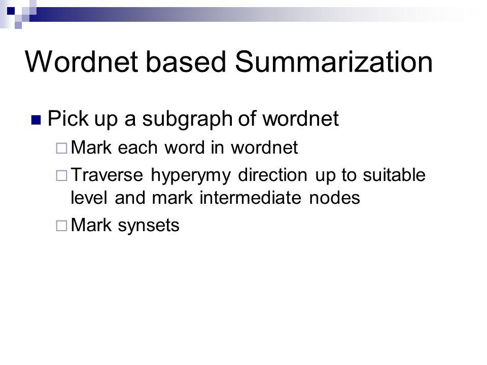 Wordnet based Summarization