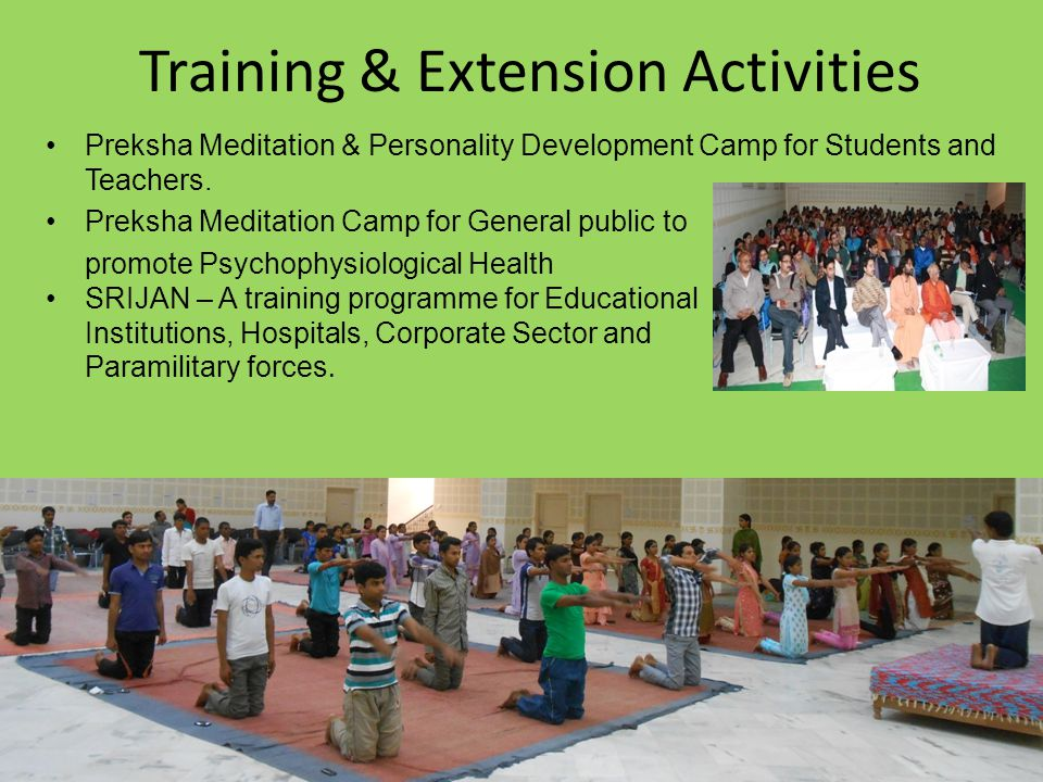 Training & Extension Activities