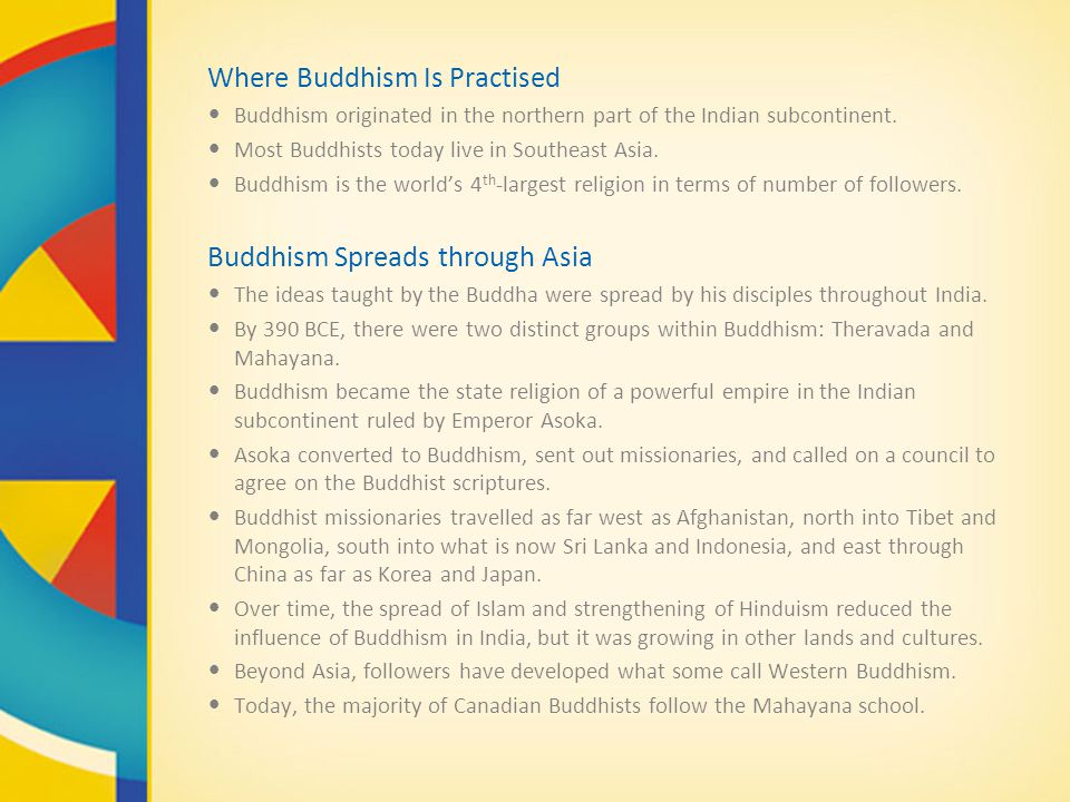Where Buddhism Is Practised