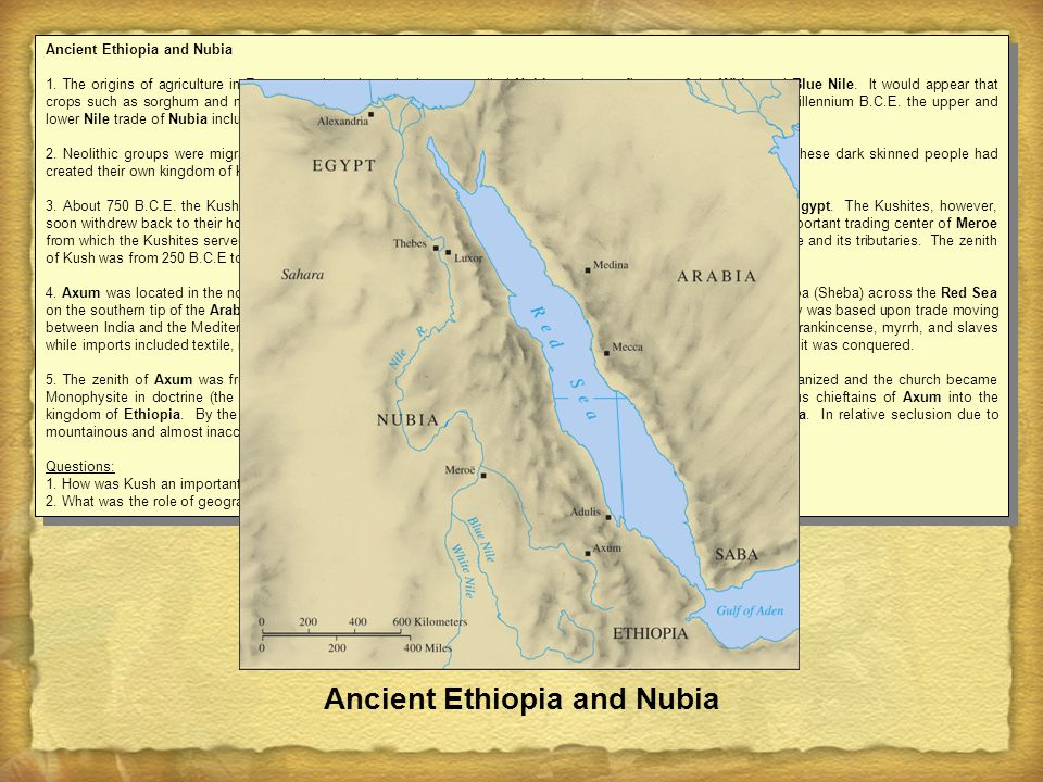 Ancient Ethiopia and Nubia