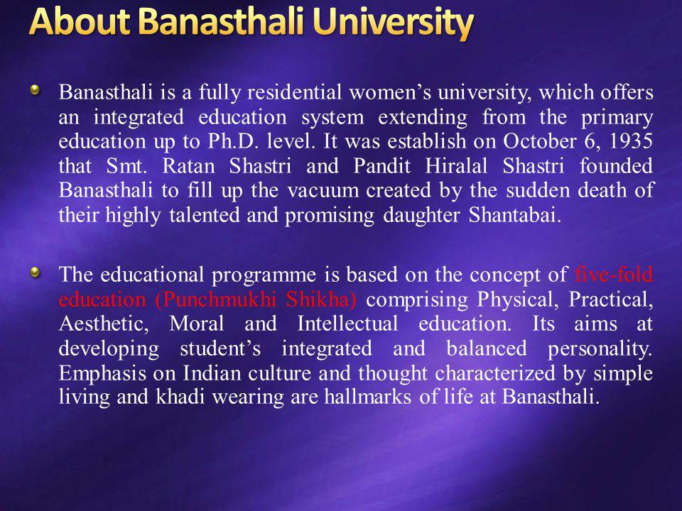 About Banasthali University
