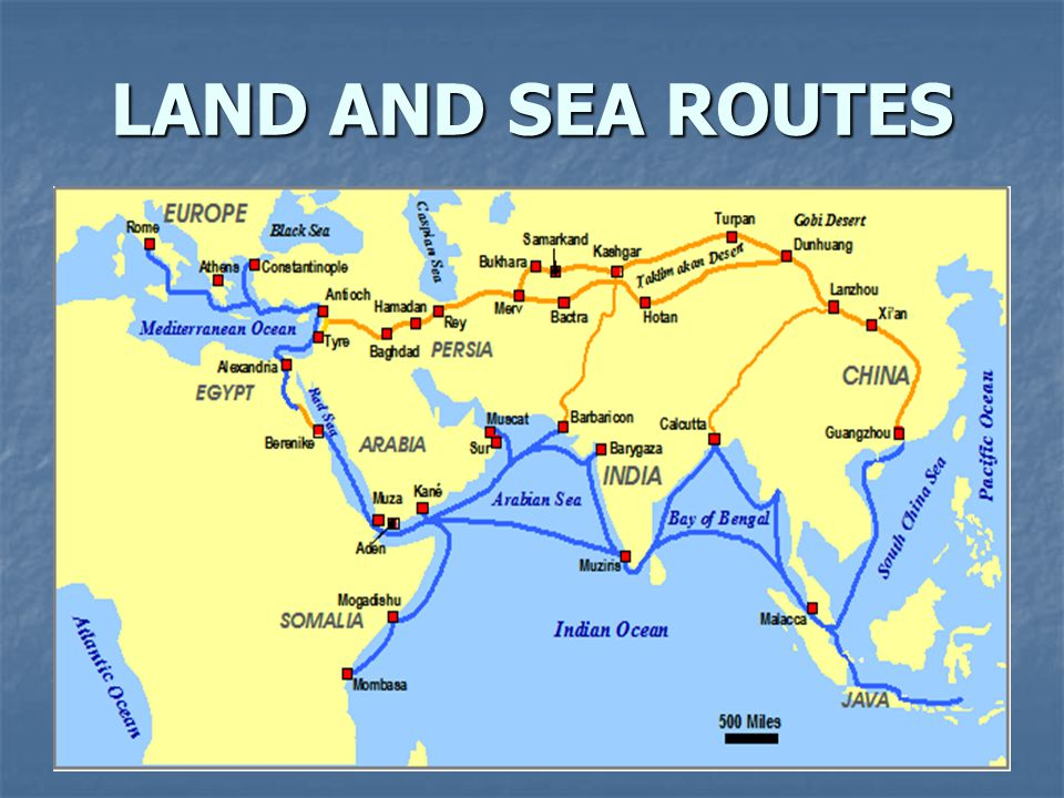 LAND AND SEA ROUTES