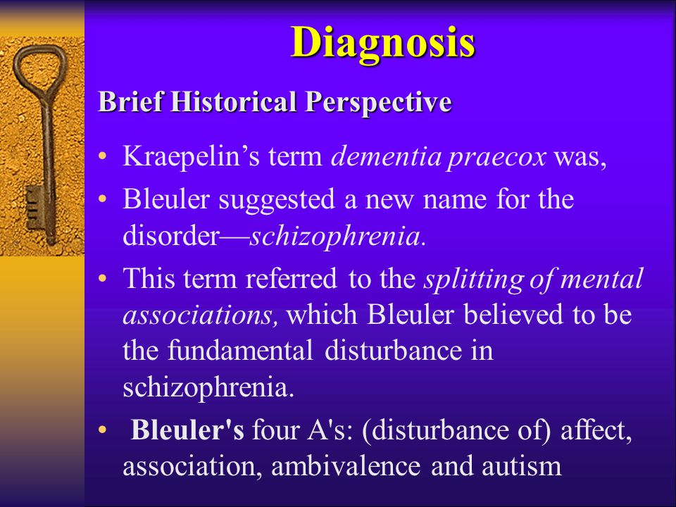 Diagnosis Brief Historical Perspective