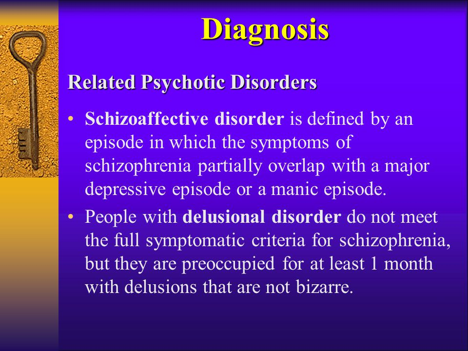 Diagnosis Related Psychotic Disorders