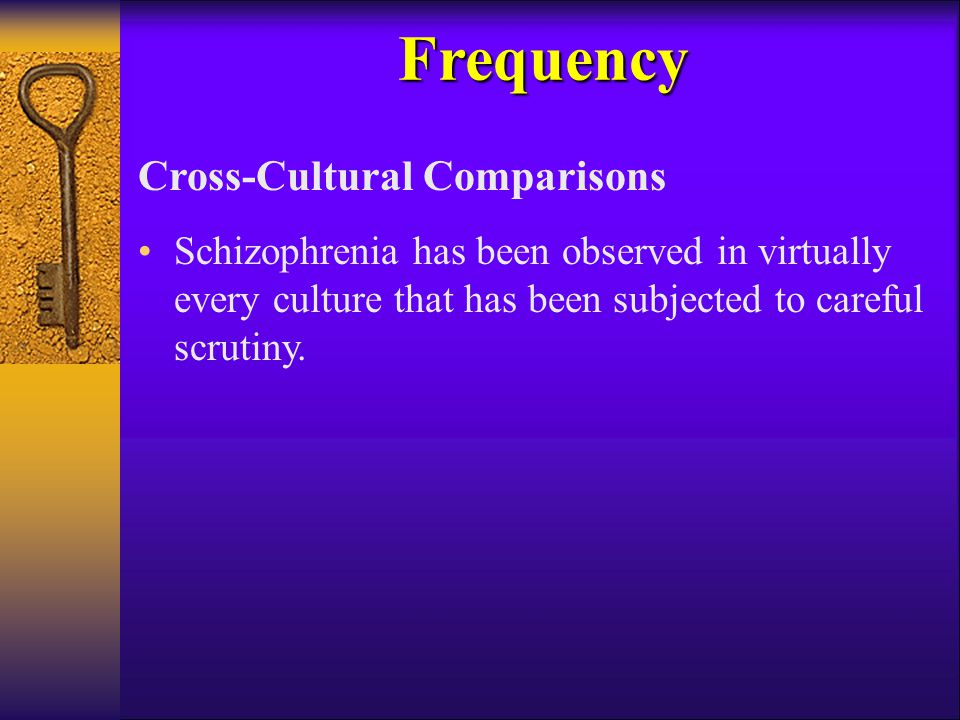 Frequency Cross-Cultural Comparisons