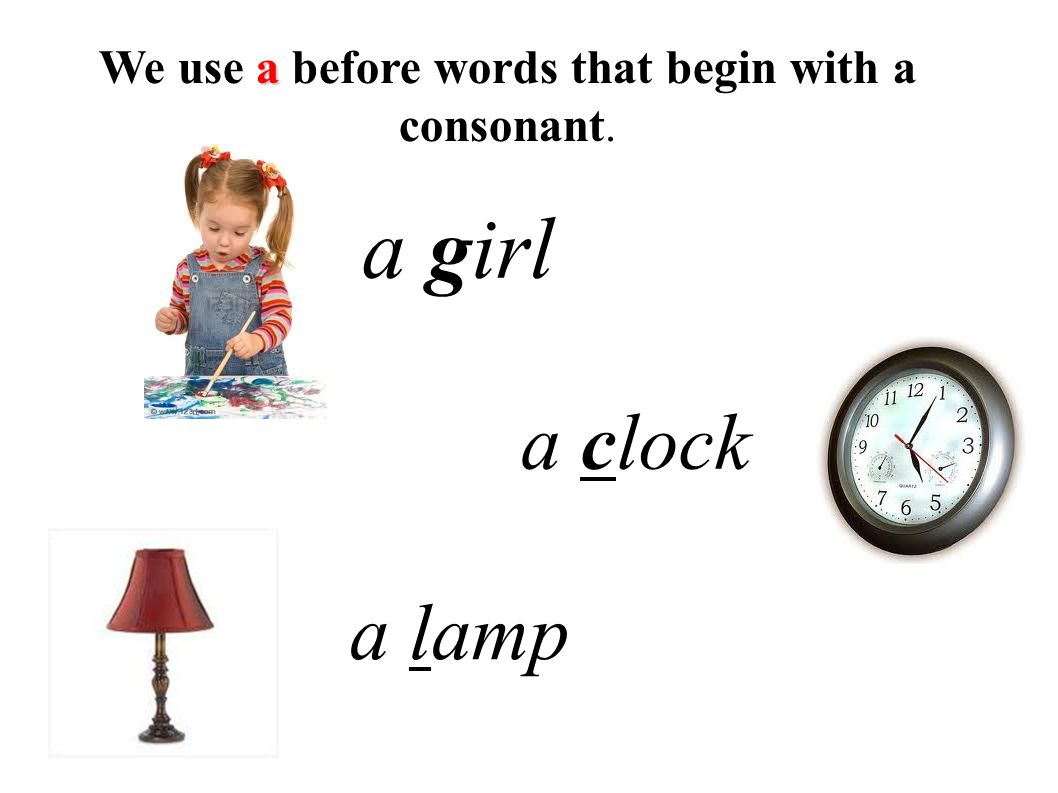We use a before words that begin with a consonant.
