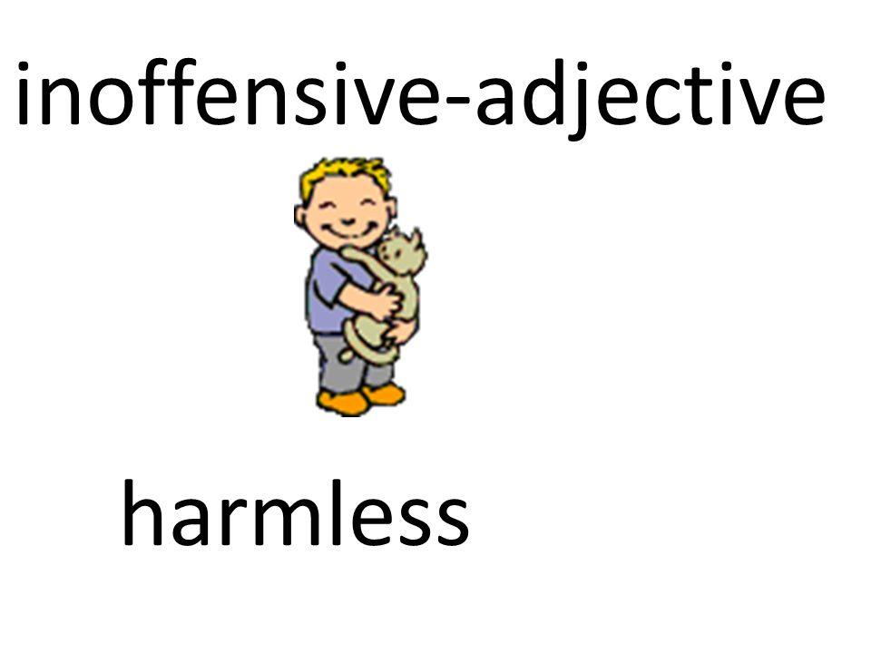 inoffensive-adjective
