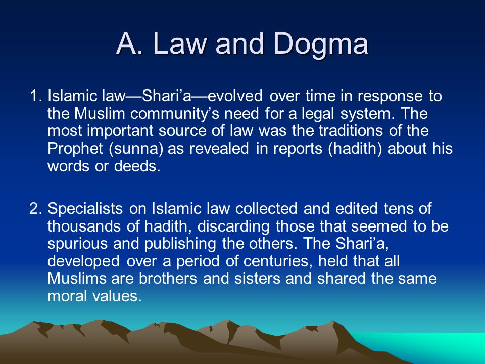 A. Law and Dogma