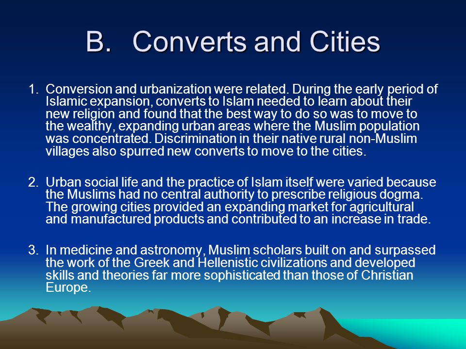 B. Converts and Cities