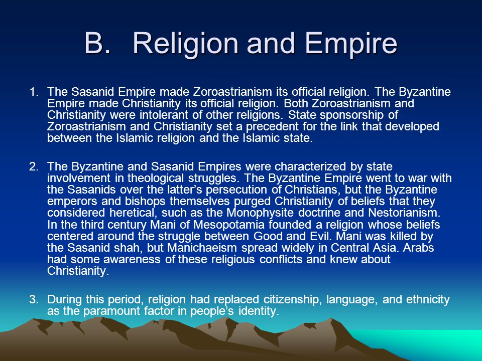 B. Religion and Empire