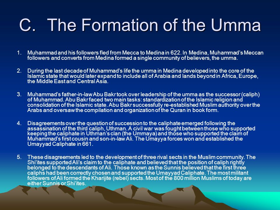 C. The Formation of the Umma