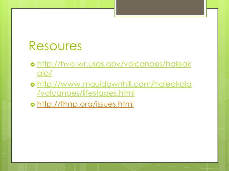 Resoures http://hvo.wr.usgs.gov/volcanoes/haleakala/