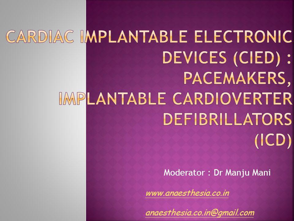 Moderator : Dr Manju Mani
