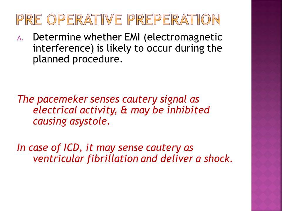 Pre operative preperation