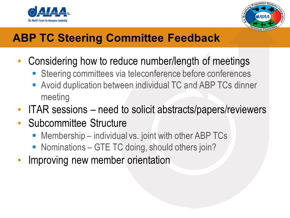 ABP TC Steering Committee Feedback