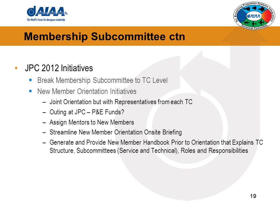 Membership Subcommittee ctn