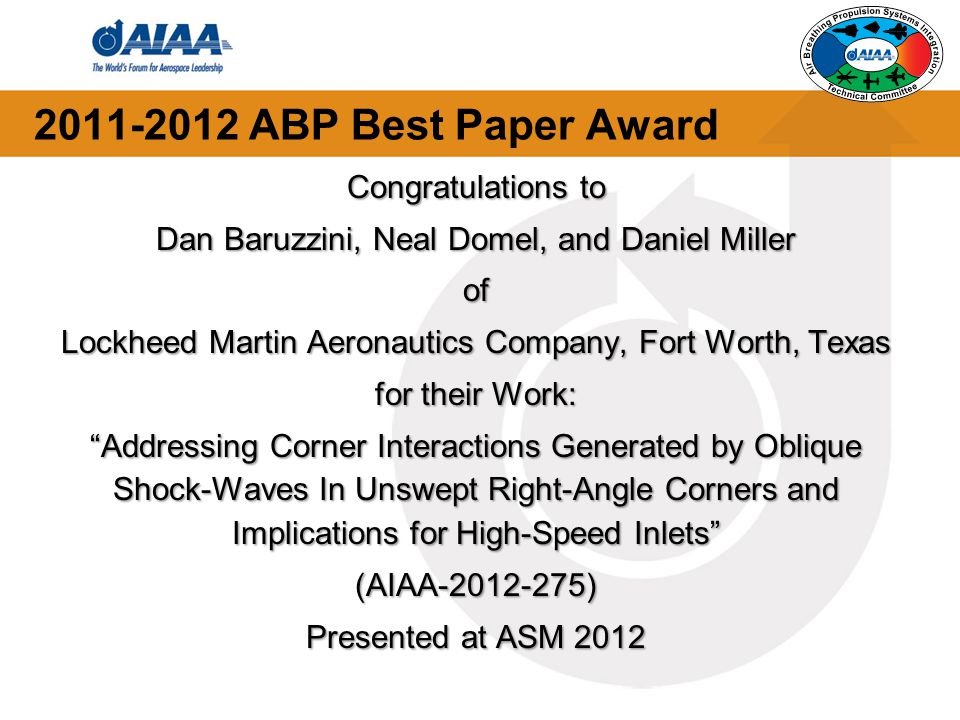 2011-2012 ABP Best Paper Award