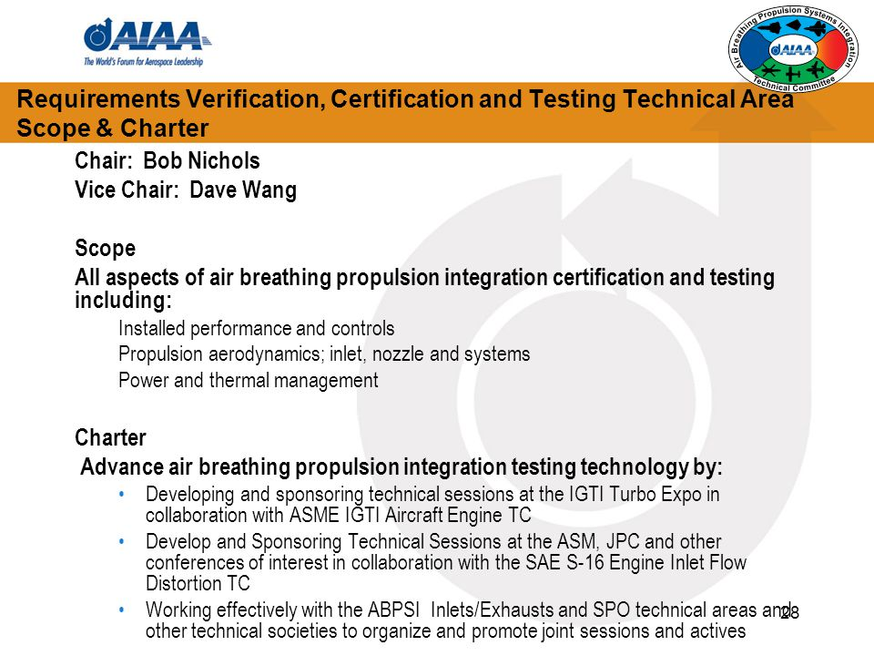 Advance air breathing propulsion integration testing technology by: