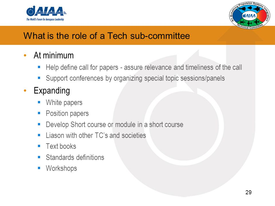 What is the role of a Tech sub-committee