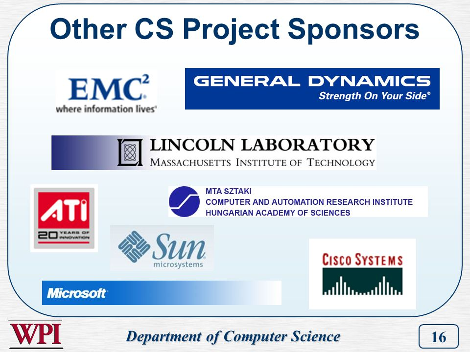Other CS Project Sponsors