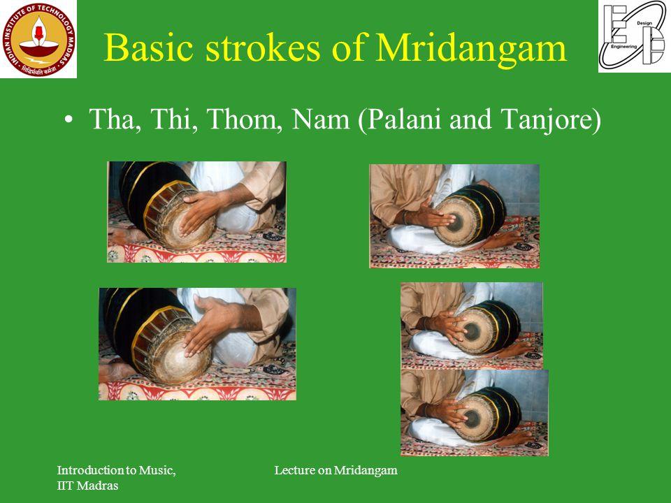 Basic strokes of Mridangam