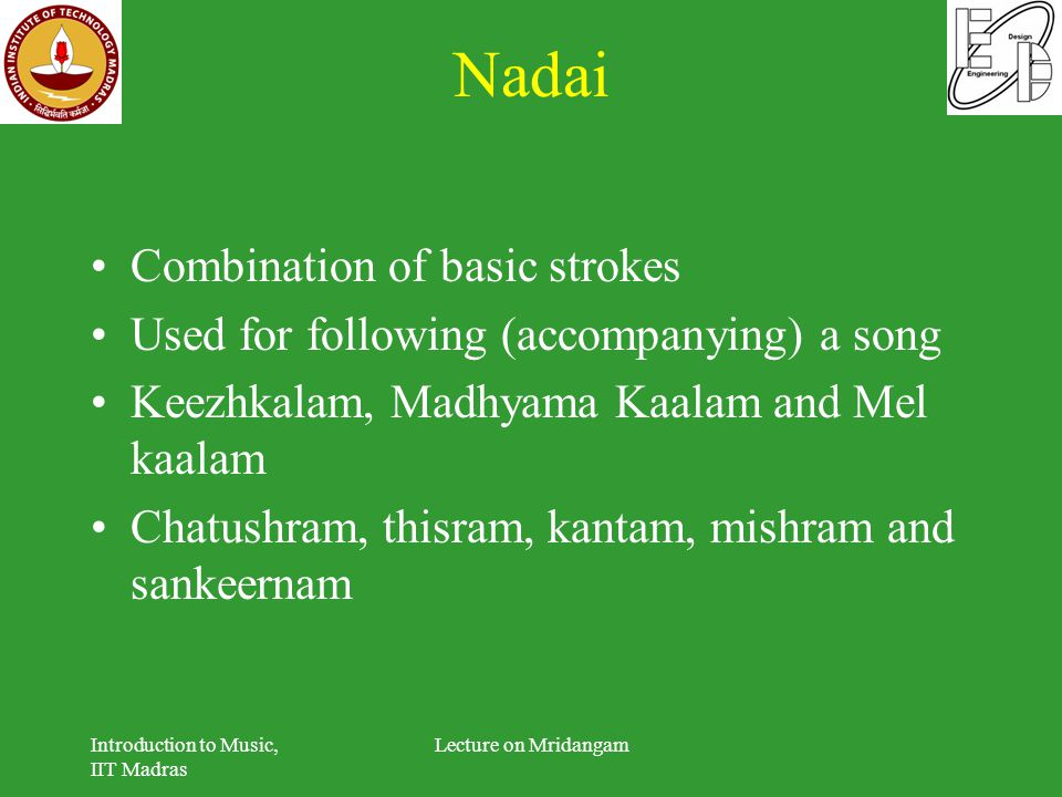 Nadai Combination of basic strokes