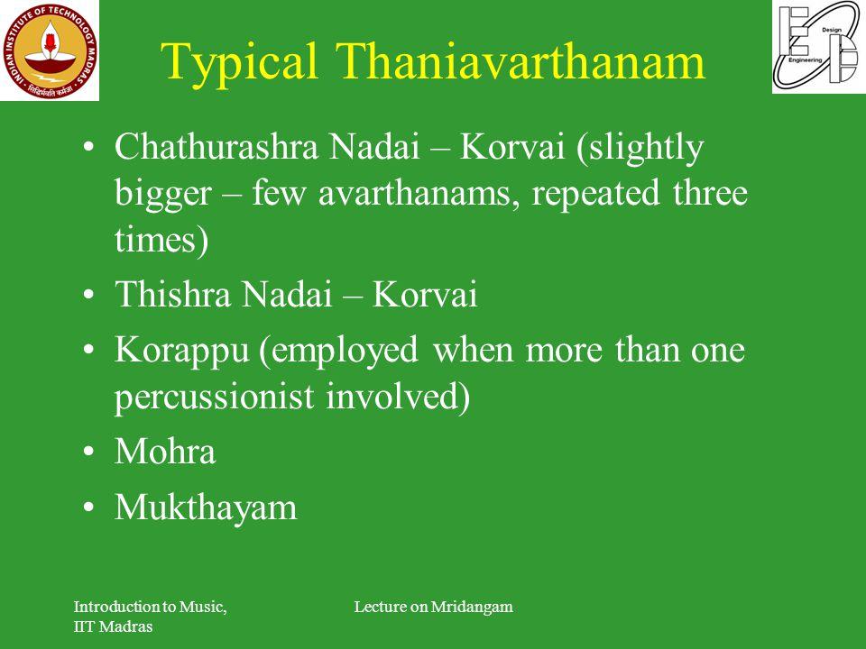 Typical Thaniavarthanam