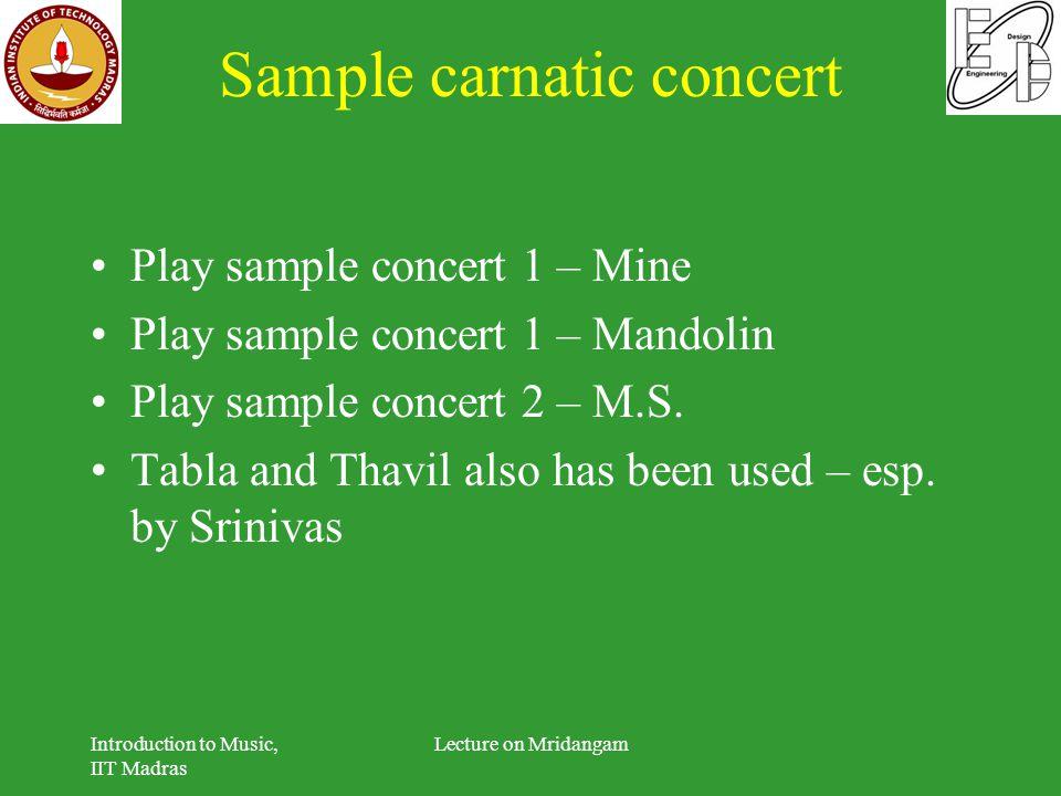 Sample carnatic concert