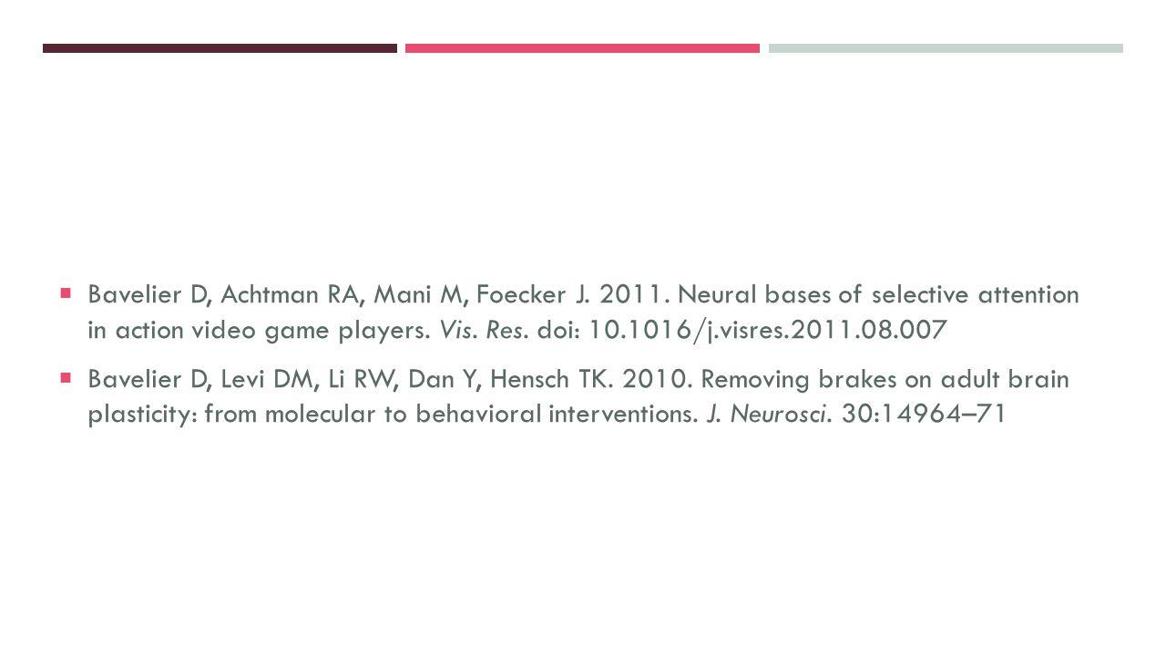 Bavelier D, Achtman RA, Mani M, Foecker J. 2011