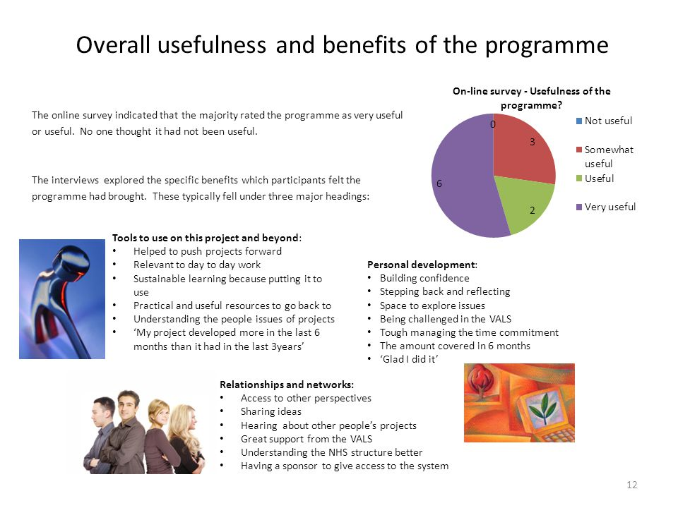 Overall usefulness and benefits of the programme