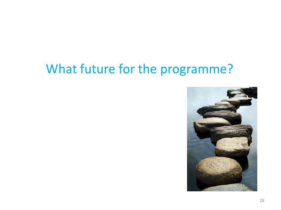 What future for the programme