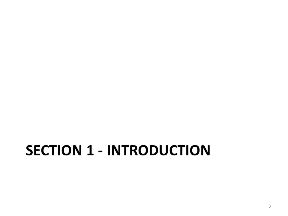 Section 1 - introduction
