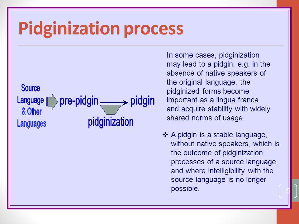 Pidginization process