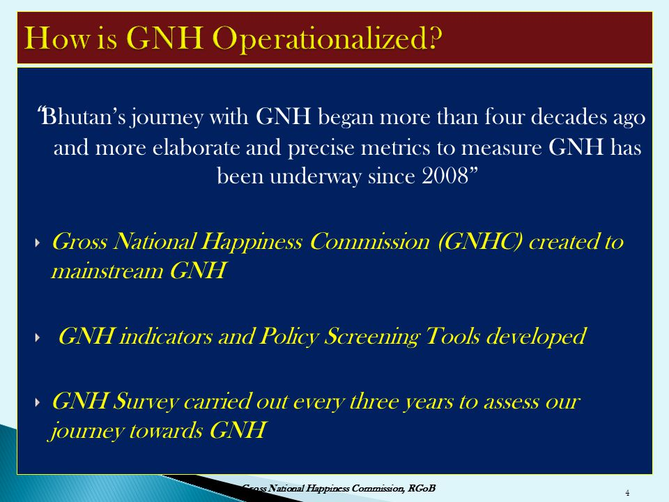 How is GNH Operationalized