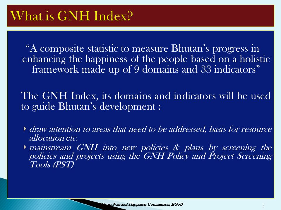 What is GNH Index