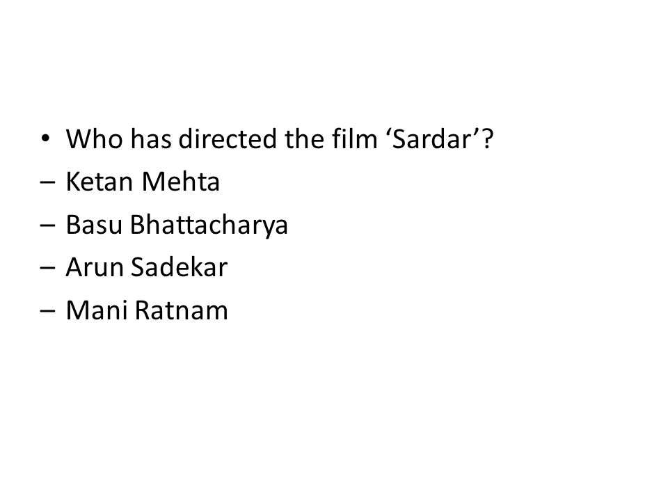 Who has directed the film 'Sardar'