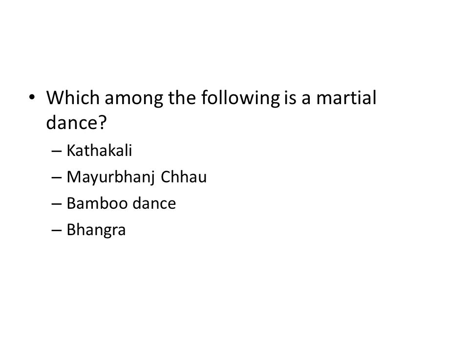 Which among the following is a martial dance