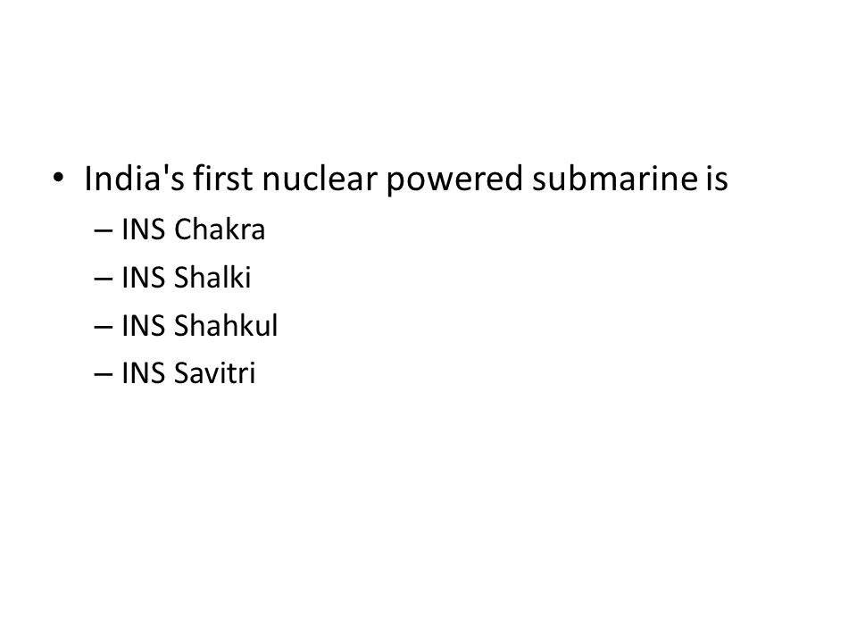 India s first nuclear powered submarine is